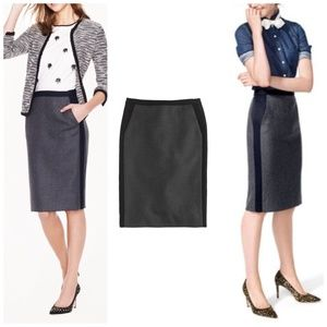 J. Crew No. 2 pencil skirt in gray wool size 4